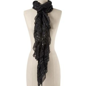 Sequined ruffle scarf!